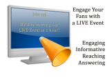 Engage your fans on facebook with a live event, facebook strategies, social media tips and tricks, facebook fanpage tips