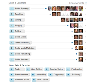 LinkedIn has new endorsement feature, helps with your online reputation.  Endorse others only on their skill sets.